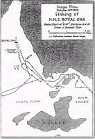 Scapa Flow Chart, sinking of Royal Oak - click to read the article