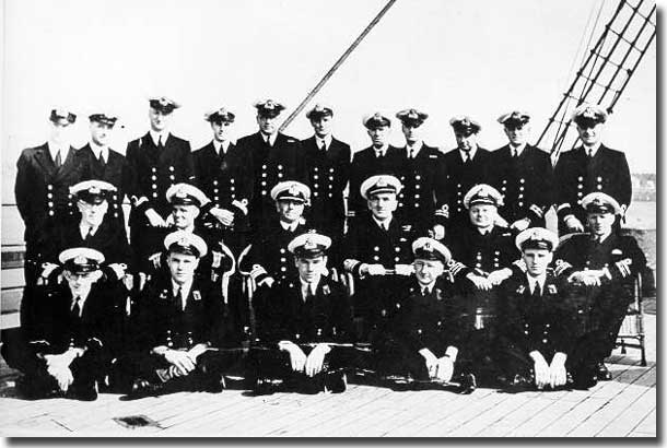 Officers of the ill fated HMS Jervis Bay, sunk by the German pocket battleship Admiral Sheer 5th. of November 1940