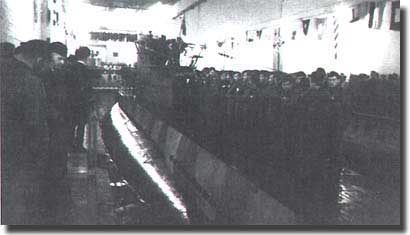 U-82 the first submarine in the new facility at La Pallice/La Rochelle on the 9th. of November 1941