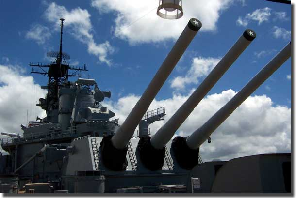 16 inch guns of Missouri