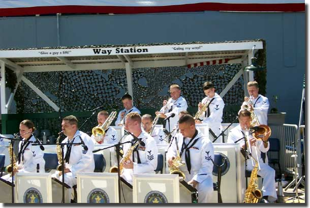 # The Navy Band on the pier.