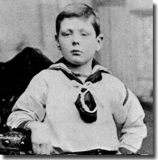 Churchill as a youngster
