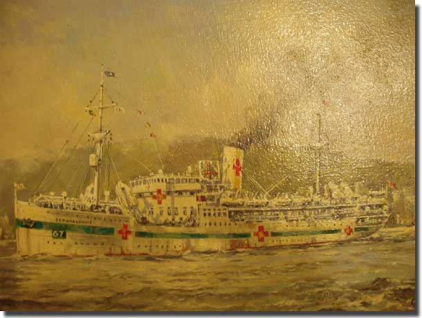 HMHS Gerasulamme, as a hopital ship in WW2
