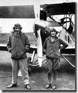Bill Lancaster and Chubbie Miller. After their arrival in Darwin 1928.