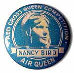 A 1930 Tin Badge for a Red Cross Queen Competrion featuring Nancy Bird.
