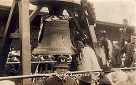 Woman Kissing the Liberty Bell in Seattle, July 1915
