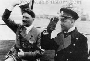 Hitler and Raeder