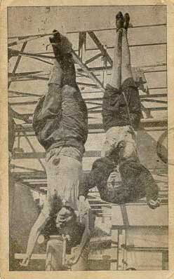 Mussolini and his mistress hung upside down in Milan, after being shot
