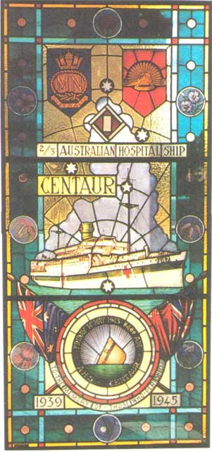 Centaur Hospital Ship Memorial Window at Concord Hospital Sydney
