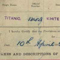 Titanic Passenger List - click to read the article
