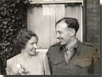 Mary and Douglas Muhr wedding on 22nd February 1945. Click to read more