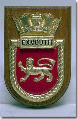 The crest of HMS Exmouth