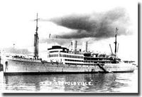 Belgian Trooper SS Leopoldville, sunk by U-486 - click to read more