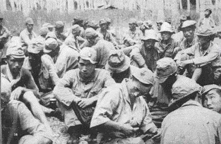 Japanese prisoners on Guadalcanal