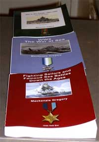 Trilogy of The War At Sea. Written and self published by Mackenzie Gregory.
