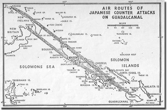 Japanese Air Routes - Solomon Islands