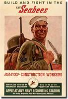 Seabees Recruiting Poster - click to read the article