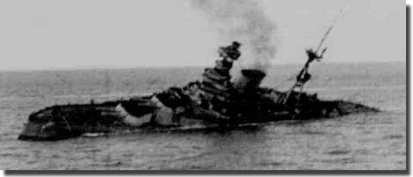 HMS Barham just before she blew up