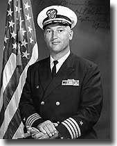 Captain William L. McGonagle USN. In command of USS Liberty when attacked by Isreali aircraft and Motor Torpedo Boats on the 8th. of June 1967, he was a Commander. Later awarded the Congressional Medal of Honor.