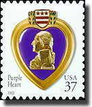 United States Purple Heart commemorative stamp - click to read the article
