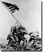 US Marines raise Old Glory on Iwo Jima - click to read the article