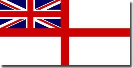 The White Ensign as flown by Naval ships of the Commonwealth during WW2