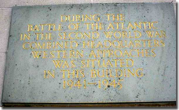 Plaque recording: The Headquarters of Western Approaches Command,
