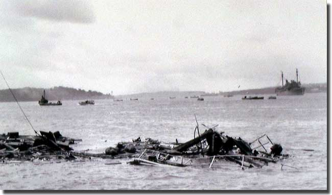 HMAS Kuttabul after attack