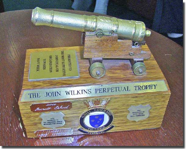 Perpetual Trophy awarded by Captain Bob Richards RAN CO HMAS Cerberus to the Victorian Chapter of the Naval Historical Society