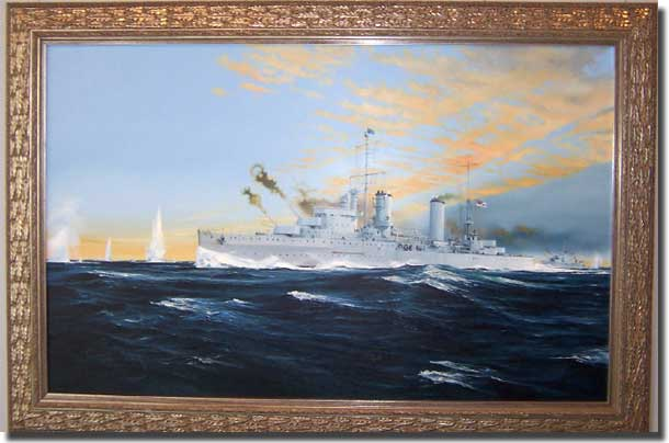 Painting of HMAS Sydney