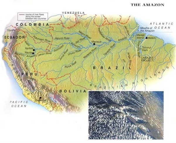 Map of Amazon River