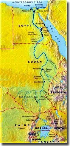 Map of the Nile River